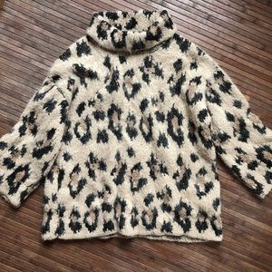 Kate Spade • Chunky Knit Leopard Sweater